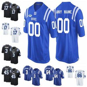 Duke Blue Devils Джерси Даниэль Джонс Джерси Макс McCaffrey Джемисон Crowder Evan Лиль Laken Томлинсон Колледж трикотажные изделия футбола Пользовательские Стич
