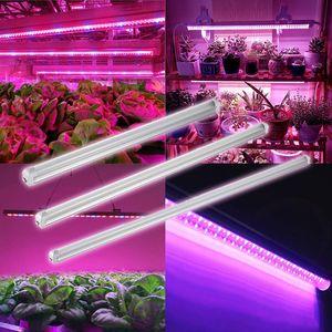 LED Plant Grow Свет пробки T8 Встроенный светодиодный УФ 365-375nm 365нм 3ft 14W AC100-305V пробки Свет 72LEDs PF0.95 FCC лампы лампы