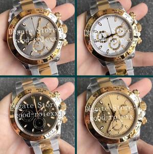 4 Renk V3 versiyonu Erkekler Otomatik Cal.4130 Chronograph Saatler Erkekler 904L Çelik Sarı Altın İzle 116503 Dalış Eta Kristal İsviçre saatı