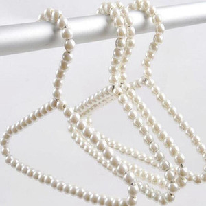 100pcs lot White 40cm Adult Plastic Hanger Pearl Hangers For Clothes Pegs Princess Clothespins Wedding Dress Hanger