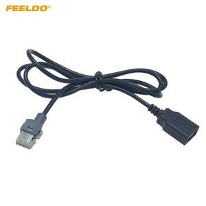 FEELDO автомобиля оригинальный стандарт CD Радио Audio Подключите к USB-адаптер Conector для Peugeot 307 408 Citroen C4 C5 данных жильный кабель # 6157