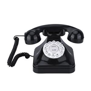 Vintage Telephone Multi Function Plastic Home Telephone Retro Antique Phone Wired Landline Phone Office Home Telephone Desk Deco