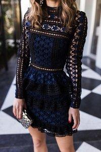 Zawfl Yüksek Kalite Öz Portre Elbise 2019 Kadın Uzun Kollu Kek Katman Giymek Zarif Yaz Kulübü Elbise Elbiseler Femmes Soldes Y190425