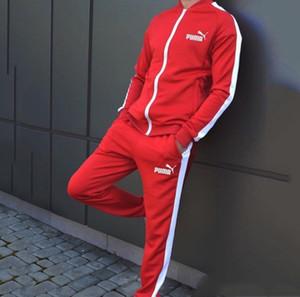 Gli uomini di marca 2 pezzi abiti pantaloni tuta giacca cardigan da jogging Capris tuta sportiva cappotti cadere abbigliamento invernale pantaloni sportivi adatti 2498