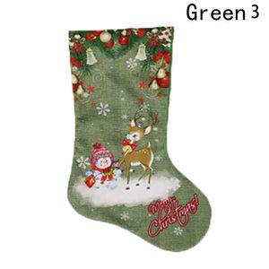 1 Stück Cartoon Weihnachten Socken Schneemann Weihnachtsmann Printed Gift Holders Weihnachtsstrümpfe Strumpfwaren Large Size