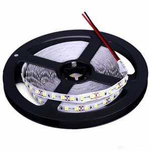 Yüksek parlaklık 5 M 600led SMD 2835 LED Şerit olmayan su geçirmez DC 12 V diyot bant 120led / m Süper daha parlak 3528 esnek ışık