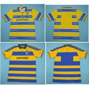 Top 98 99 00 Parma retro camisetas de fútbol camiseta de fútbol CANNAVARO 1998 1999 2000 BAGGIO Jersey CRESPO clásico maillot de pie