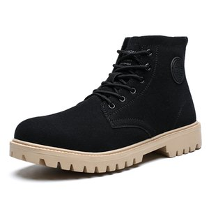 High Quality Winter Men Boots New Outdoor Snow Ankle Boots Male Lace Up Anti-slip Sneakers Men Plus Size 39-44 Zapatos De Hombre