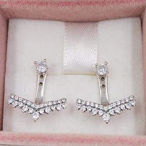 Authentische 925 Sterling Silber Ohrstecker Prinzessin Wishbone Ohrstecker Passend Europäische Pandora Style Ohrstecker Schmuck 297739CZ
