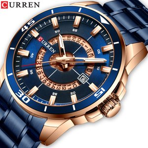 Men Watch CURREN Rvs heren Reloj Hombre Horloge Uomini Horloge Fashion Design quarzo incontrato Datum Klok Mannelijke Man regalo
