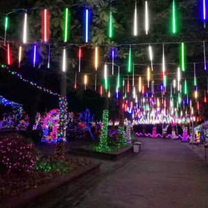 8 / 10Tube 크리스마스 요정 조명 LED 스트링 조명 유성우 비 조명 야외 장식 거리 화환 할로윈 파티 램프 CRESTECH