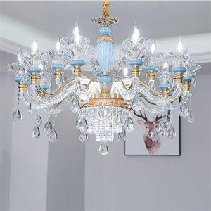 Avrupa tarzı kristal avize salon kolye odası yatak odasında ev kolye ışıkları yemek yeni salon lamba lüks lambaları