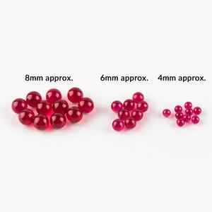 4mm 6mm 8mm Ruby Pearl Terp Ball mit Rubinperlen Tops Insert Für Spinning Carb Caps Quarz Banger Glass Dab Rigs Wasserpfeifen