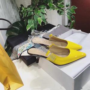 Фиолетовый Синий Желтый Роза Kitten Heels Женщины Heeled платье сандалии ПВХ ремни женские Свадеб Мода Обувь Женщины Пром сандалии Mujers