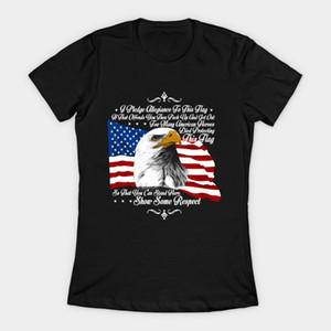 Отечественная Америка Flag белоголового орлана женщины T-Shirt