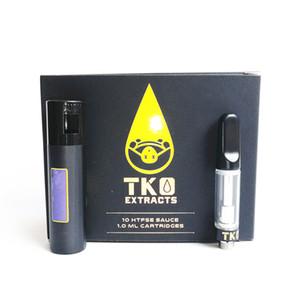 Новый черный TKO картриджи Белый TKO экстракты Vape тележки 0.8 мл 1.0 мл TH205 керамическая катушка толщиной масло 510 резьба бак с Packagin