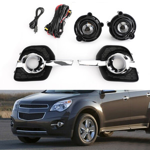 Areyourshop Car Clear Lens Pair Fog Light Lamp Wiring Switch Kit Fit For 2010-2016 Chevy Equinox Car Auto Accessories Parts