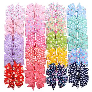 Fashion Kids Bow Hair Barrette Clip Bowknot Daisy Sunflower Girls Hair Clips Accessories Girl Boutique Head Accessories Gifts Top Sale