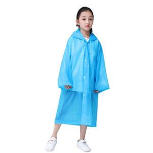 Los niños de la capilla poncho de lluvia desgaste Claro espesado plástico EVA sola persona ropa impermeable del impermeable multi de los colores Para la Actividad al aire libre 4CJ E19