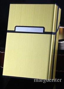 Курение Сигарет Портсигар Новый Алюминиевый Сплав Матовый Металл Матовая Магнитная Пряжка Портсигар Шесть Цветов