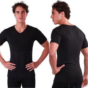 BNC Men Thermal Body Shaper Slimming Shirt Hot Thermo Neoprene Sweat Sauna Waist Trainer Corset Shapewear