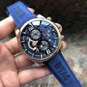 2020 Hot Luxusuhr Männer original Stahlband Multi-Funktions-Quarz Business Casual Mode Sportmarke Uhr der Männer Designer-Uhr