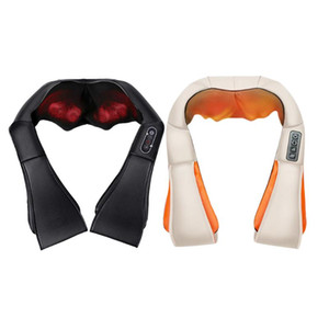U Shape Electrical Shiatsu Back Neck Shoulder Body Pain Massager Roller Infrared Heated Kneading Car Home Massagem