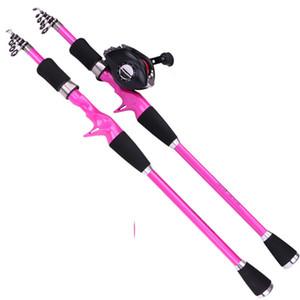Karbon teleskopik tabanca kolu yol alt çubuk Mini ultra kısa çubuk 1.8 m 2.1 m 2.4 m olta atma çubuk