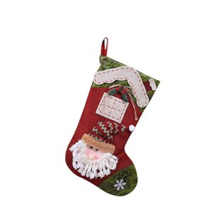 Christmas Xmas Hanging Party Tree Decor Santa Stocking Sock Gift Women's Underwear Underwear Candy Bags Lovely Gift Bag For Children Firepla