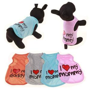 Vêtements pour animaux Dog respirant Veste Printemps Eté Rafraîchissant Chiens Costume petits animaux pour chiens Chats T-shirts pour Chihuahua Teddy Livraison rapide