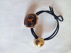 Frauen Designer Brief Haar Gummiband Bowknot Brief elastischer Haar-Seil-Pferdeschwanz-Halter-Luxus-Haarschmuck