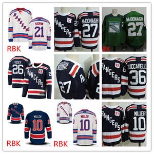 Descuento para hombre de Nueva York Rangers Ryan McDonagh Jersey # 10 JT. Miller Derek Stepan Mats Zuccarello Jimmy Vesey Nueva York Rangers jerseys