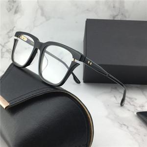 Les nouveaux verres hommes design verres optiques style vintage AVE de mode cadre rond objectif HD avec étui style simple, populaire