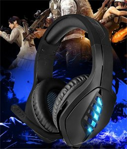 Headset computer gaming headset desktop notebook luminous wire-controlled PS4 gaming headset