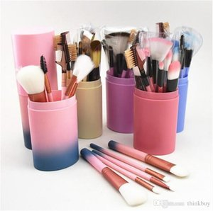 Makeup Brushes Set 12pcs Face Foundation Powder Brush Professional Makeup Concealer Blush Eyebrow Eye Shadow Make Up Brush Set with cup