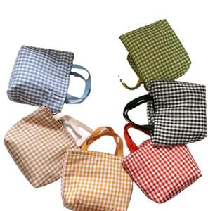 Buffalo Verifique Bolsa de algodão da manta Bolsa de Ombro Mulheres Sacos de compra de Grande Capacidade de viagem Tote Sports Duffle Bag Lunch Bolsas GGA3480