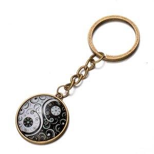 Stile cinese Yin Yang Tai Chi portachiavi Vintage Best Friends Amicizia portachiavi per chiavi auto Bag BFF Coppie Key Chain Jewelry Hang Fibbia