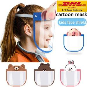 DHL bonito Universal escudo anti-fog máscara protetora máscaras dos desenhos animados Transparente Proof Crianças Criança completa Rosto Oil-respingo poeira proteção segura