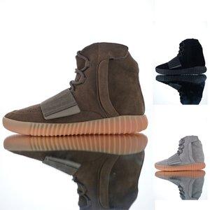 Mens delle donne 750 nuovo stile di moda delle scarpe da tennis nuovo Basf Sneaker Grigio chiaro Nero Marrone cioccolato Kanye West High Boots-top dei pattini casuali