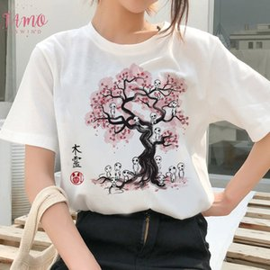 Totoro Spirit Away T Shirt Ghibli Femme Japanese Cartoon Anime Women Tshirt T Shirt Miyazaki Hayao Clothes Female Kawaii