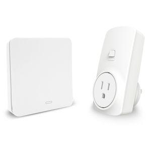 Freeshipping Us Spina Kit di prese wireless con interruttore cinetico autoalimentato senza fili di controllo remoto Echo Voice Control