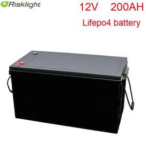 Высокая емкость Lifepo4 Для питания системы солнечной 12V 200Ah литий-ионная аккумуляторная батарея