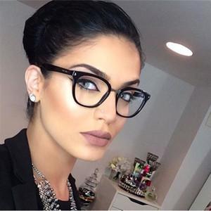 Seksi Mor Gözlük Çerçevesi Kare Gözlük Çerçeve Şeffaf Lens Miyopi Nerd Siyah Güneş Gözlüğü Iki Ton Perçin Gözlük Çerçeveleri Kadınlar