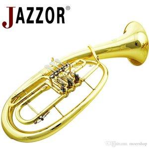 Profesional JAZZOR JZBT-310G barítono cuerno B Oro plano de laca barítono instrumento de viento de bronce con el caso boquilla de barítono