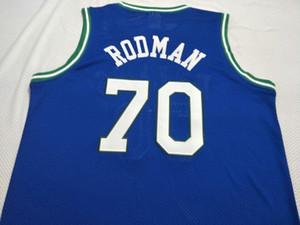 Tamaño # 4 de Dennis Rodman Bsaketball Jersey vintage # 70 o camiseta personalizada de cualquier nombre o número