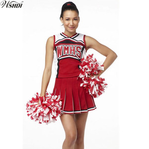 Vendita diretta Sexy High School Cheerleading Costume Cheer Girls Cheerleader Uniform Party Outfit Top con gonna