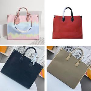 Designer bolsa bolsas bolsa OnTheGo lona escale couro genuíno onda de couro Tote Bag mulheres sacos de Lady Bolsa Crossbody Bag