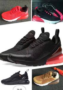 Nike Air Max 270 AirMax 2019 crianças athletic shoes crianças 27c tênis de basquete lobo cinza 270s criança 27c tênis esportivos para menino menina criança chaussures 28-35