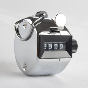 Großhandel 4 Digit Anzahl Manuelle Mechanische Handzähler Kleine Digital Tally Counter Sporttraining Hand Mechanische Zähler DH1237 T03