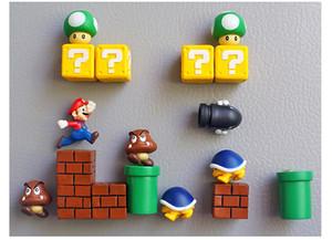 10 unids 3D Super Mario Bros Imán de Nevera Imán de Nevera Etiqueta Adulto Hombre Hombre Niño Niños Niños Juguete de Regalo de Cumpleaños